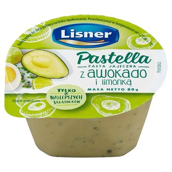 Lisner Pastella Pasta jajeczna z awokado i limonką 80 g