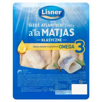 Lisner Śledź atlantycki filety a'la Matjas klasyczne 750 g
