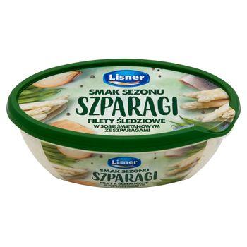 Lisner Smak Sezonu Filety śledziowe w sosie śmietanowym ze szparagami 280 g