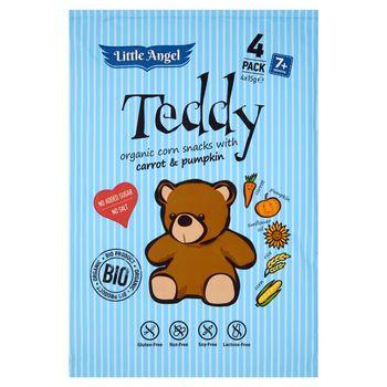 Little Angel Teddy Chrupki kukurydziane z marchwią i dynią 60 g (4 paczki)