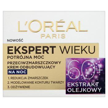 L'Oreal Paris Ekspert Wieku 60+ Przeciwzmarszczkowy krem odbudowujący na noc 50 ml