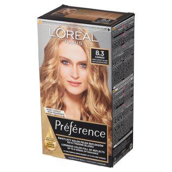 L'Oréal Paris Préférence Farba do włosów jasny złocisty blond 8.3 Cannes