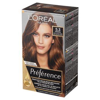 L'Oréal Paris Préférence Farba do włosów jasny złocisty brąz 5.3 Virginia