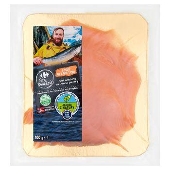Carrefour Targ Świeżości Łosoś atlantycki filet wędzony na zimno plastry 100 g