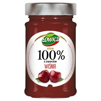 Łowicz Dżem 100% z owoców wiśnia 220 g