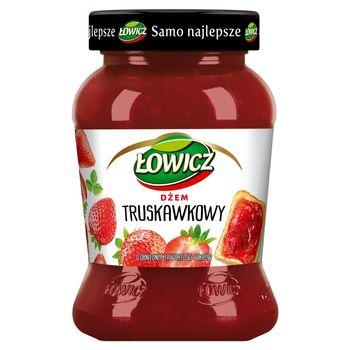 Łowicz Dżem truskawkowy o obniżonej zawartości cukrów 450 g