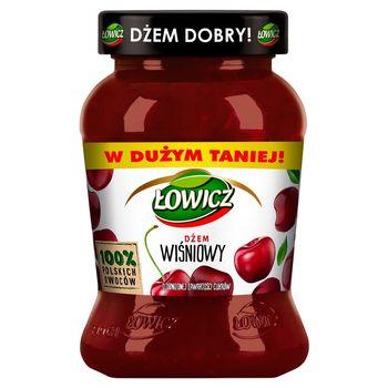 Łowicz Dżem wiśniowy o obniżonej zawartości cukrów 450 g