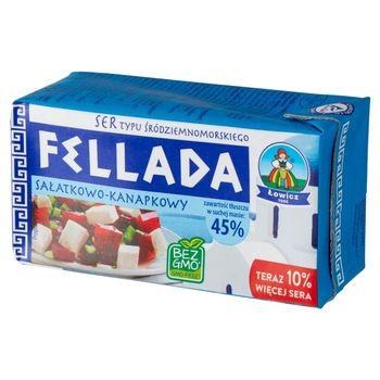 Łowicz Fellada Ser sałatkowo-kanapkowy typu śródziemnomorskiego 45% 220 g