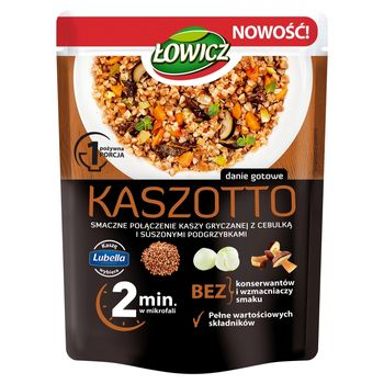 Łowicz Kaszotto kasza gryczana z cebulą i suszonymi podgrzybkami 250 g