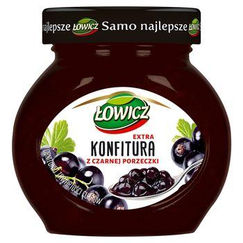 Łowicz Konfitura extra z czarnej porzeczki o obniżonej zawartości cukrów 240 g