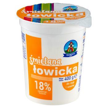 Łowicz Śmietana łowicka do zup i sosów 18% 400 g