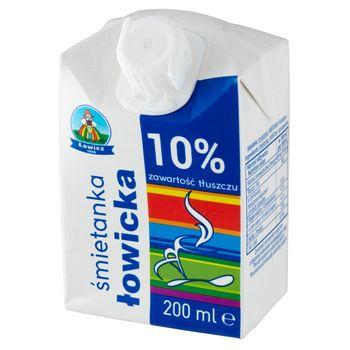 Łowicz Śmietanka łowicka UHT 10% 200 ml