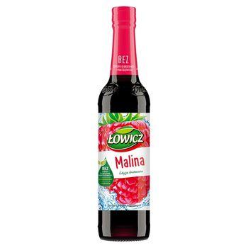 Łowicz Syrop o smaku malinowym 400 ml
