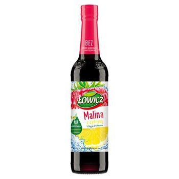 Łowicz Syrop o smaku malinowym z cytryną 400 ml