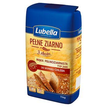 Lubella Pełne Ziarno 3 zboża Mąka pełnoziarnista do wypieku chleba typ 2000 1 kg