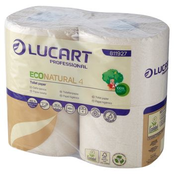 Lucart Professional Econatural Papier toaletowy 4 rolki