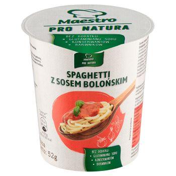 Maestro Pro Natura Spaghetti z sosem bolońskim 52 g