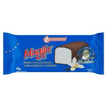Magija Batonik z masy twarogowej o smaku waniliowym w czekoladzie 40 g