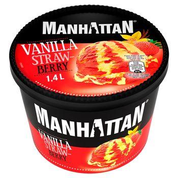 Manhattan Lody waniliowe i lody wodne truskawkowe 1400 ml