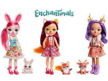 Mattel Enchantimals Lalka 30cm + Zwierzątko