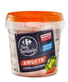 Kapusta kiszona z marchewką wiaderko 1kg