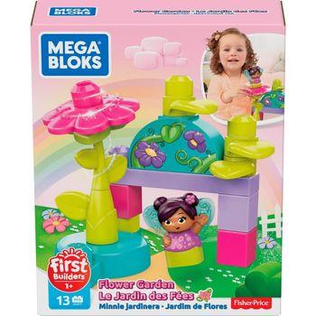 Mega Bloks First Builders - Klocki Kwiatowy ogród + Wróżka