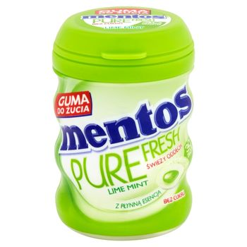 Mentos Pure Fresh Lime Mint Guma do żucia bez cukru 60 g (30 sztuk)