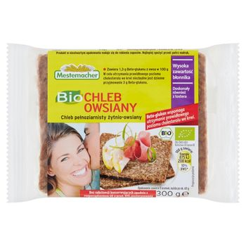 Mestemacher Bio Chleb pełnoziarnisty żytnio-owsiany 300 g
