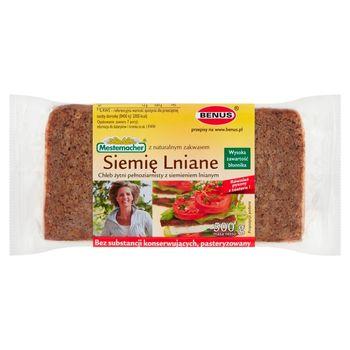 Mestemacher Chleb żytni pełnoziarnisty z siemieniem lnianym 500 g