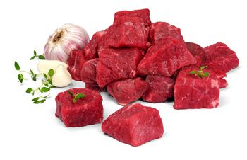 Mięso wołowe na gulasz tacka