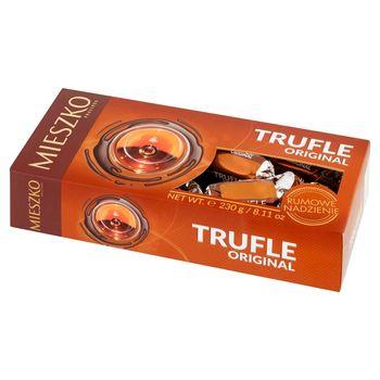 Mieszko Trufle Original Cukierki z rumem w czekoladzie 230 g