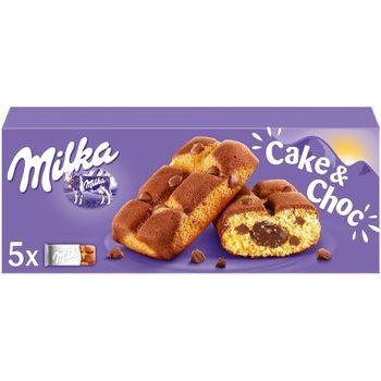 Milka Cake & Choc Ciastka biszkoptowe z kawałkami czekolady mlecznej 175 g (5 sztuk)