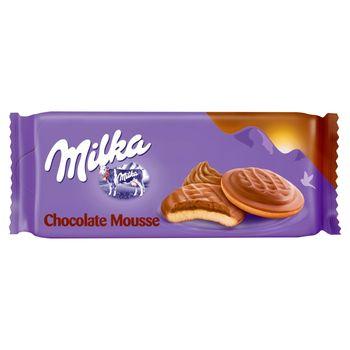 Milka Choco Jaffa Biszkopty z pianką o smaku czekoladowym oblewane czekoladą mleczną 128 g