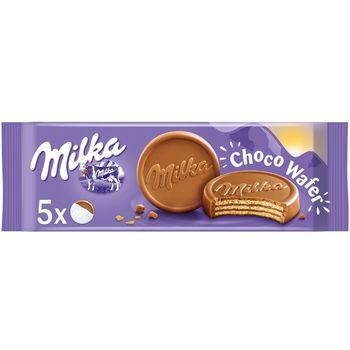 Milka Choco Wafer Wafelki z kremem kakaowym oblane czekoladą mleczną 150 g (5 sztuk)