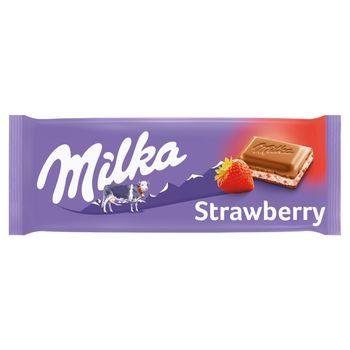 Milka Czekolada mleczna Strawberry 100 g