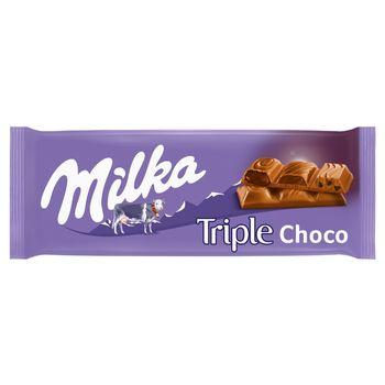 Milka Czekolada mleczna Triple Choco Cocoa 90 g