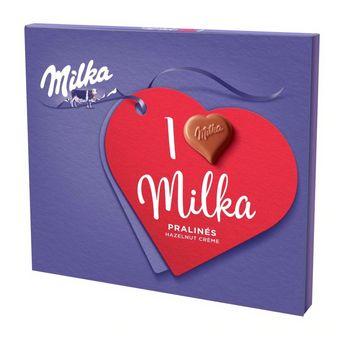 Milka Czekoladki mleczne z nadzieniem z orzechów laskowych 110 g (20 sztuk)