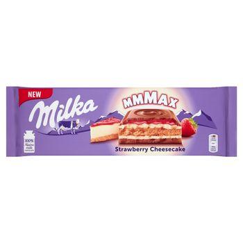 Milka Mmmax Herbatnik w czekoladzie mlecznej Strawberry Cheesecake 300 g
