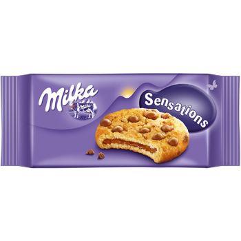 Milka Sensations Ciastka z kawałkami czekolady mlecznej z mleka alpejskiego 156 g