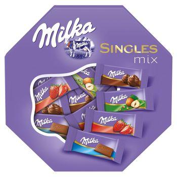 Milka Singles Mix Mieszanka czekoladek mlecznych 138 g