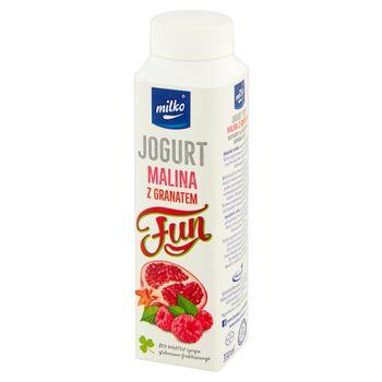 Milko Fun Jogurt malina z granatem 330 ml