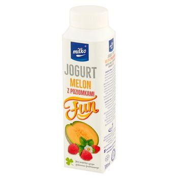 Milko Fun Jogurt melon z poziomkami 330 ml