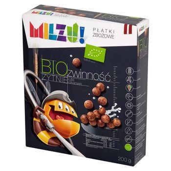 Milzu! Bio Żytnie Płatki zbożowe kulki kakaowe 200 g