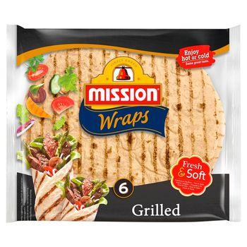 Mission Wraps Grilled Tortilla pszenna 370 g (6 sztuk)