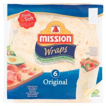 Mission Wraps Original Tortilla z mąki pszennej 370 g (6 sztuk)