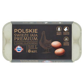 Mizgier Polskie świeże jaja premium z chowu klatkowego L 8 sztuk