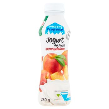 Mleczny Przystanek Jogurt do picia brzoskwiniowy 350 g