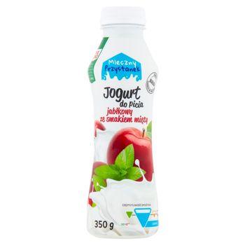 Mleczny Przystanek Jogurt do picia jabłkowy ze smakiem mięty 350 g