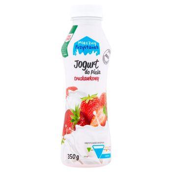 Mleczny Przystanek Jogurt do picia truskawkowy 350 g