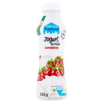 Mleczny Przystanek Jogurt do picia żurawinowy 350 g